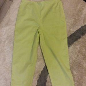 Talbots mint green capris size 12